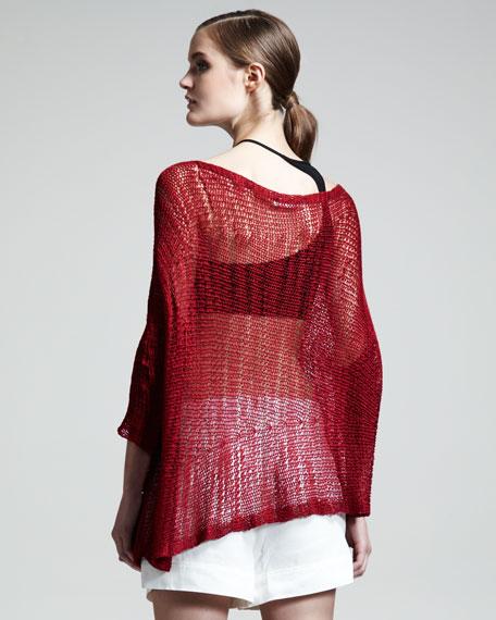 Asymmetric Marled Pullover