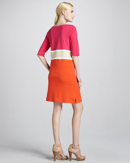 Colorblock Interlock Dress, Petite