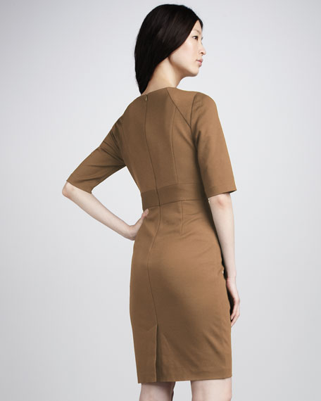 Monarch Ponte Dress, Camel