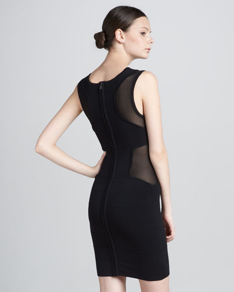 Mary Mesh-Panel Dress