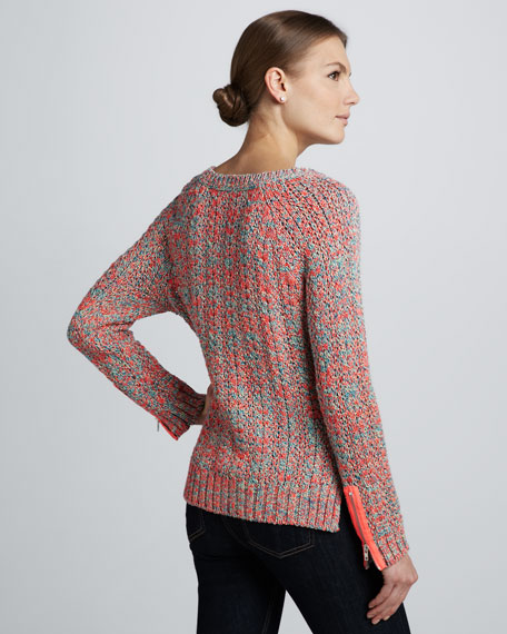 Zipper-Sleeve Sweater