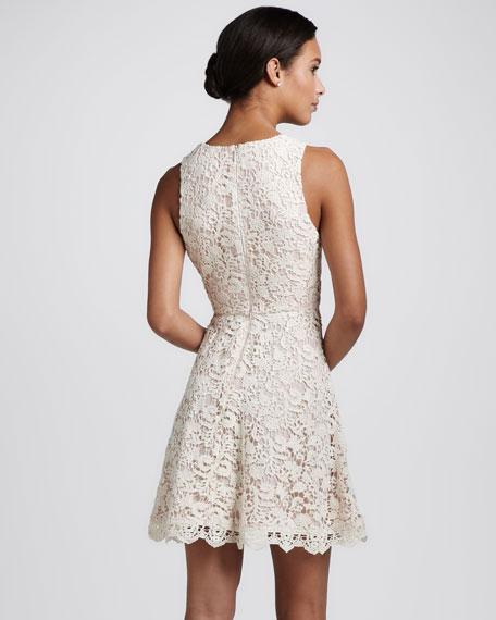 Sleeveless A-Line Crochet Dress