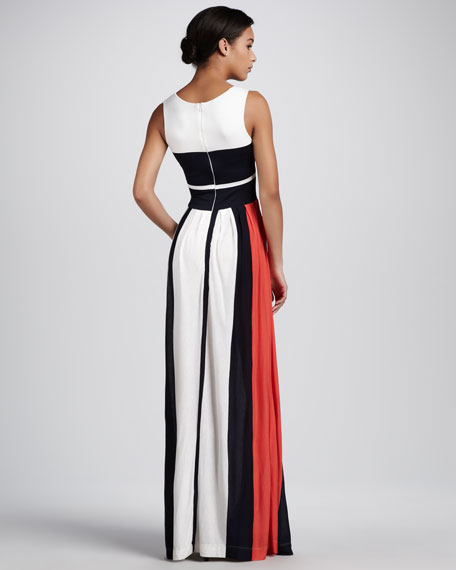 Medina Striped Maxi Dress
