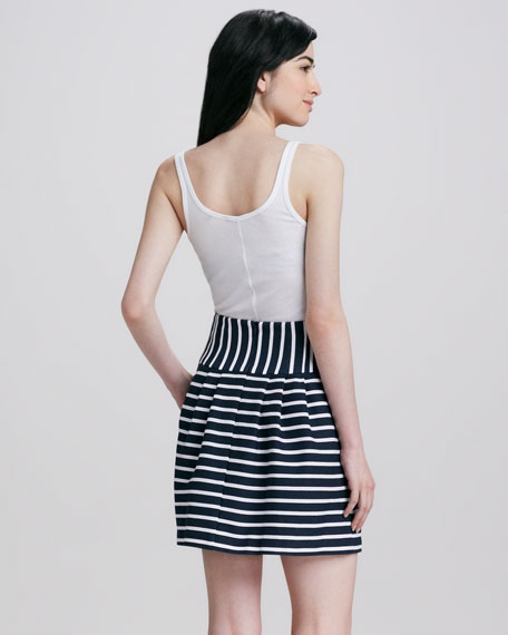 Ka Pow! Pleated Striped Skirt