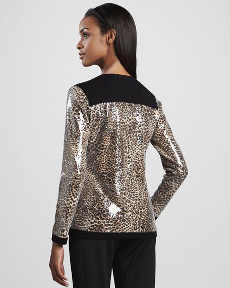 Sequined Animal-Print Jogging Suit, Women's