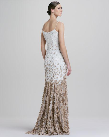 Ombre Petal Slip Gown