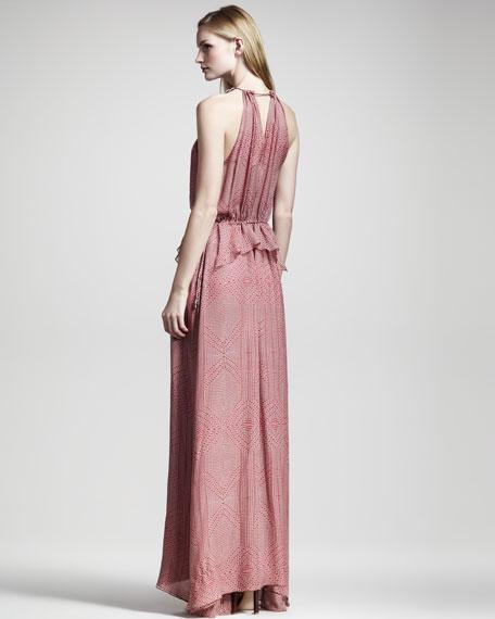 Geometric-Print Maxi Dress