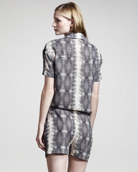 Lizard-Print Jumpsuit