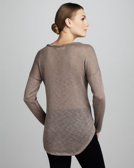 Foiled-Skull Knit Sweater