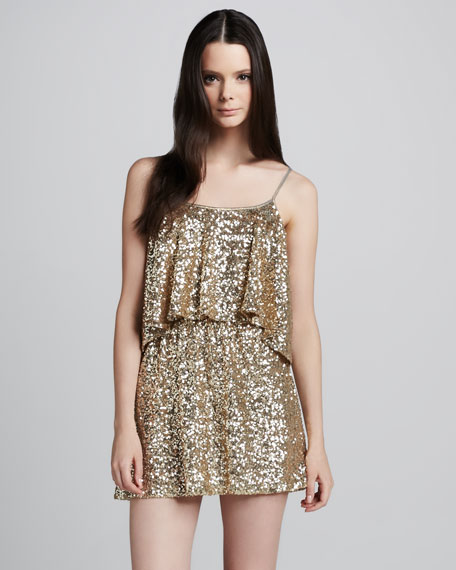 Sequined Tiered Dress
