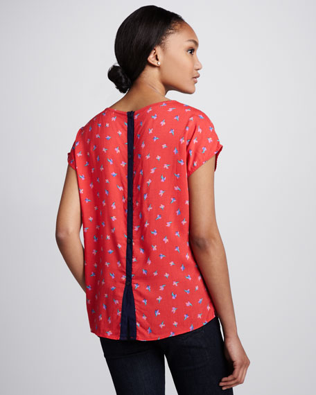 Parisian Tulip Printed Top