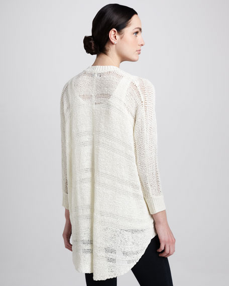 Draped Yarn Cardigan