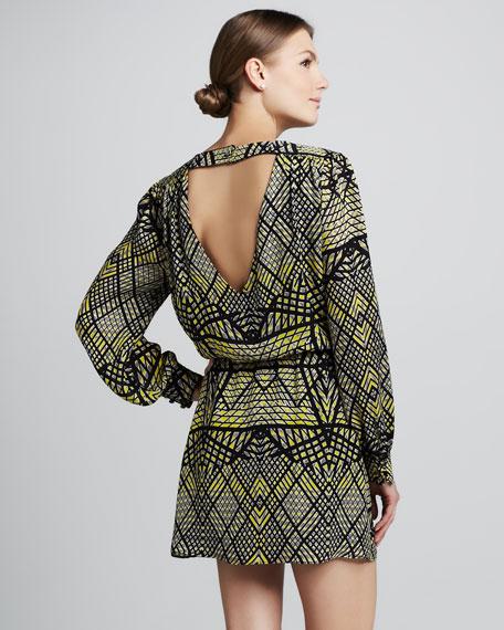 Lila Matrix-Print Dress