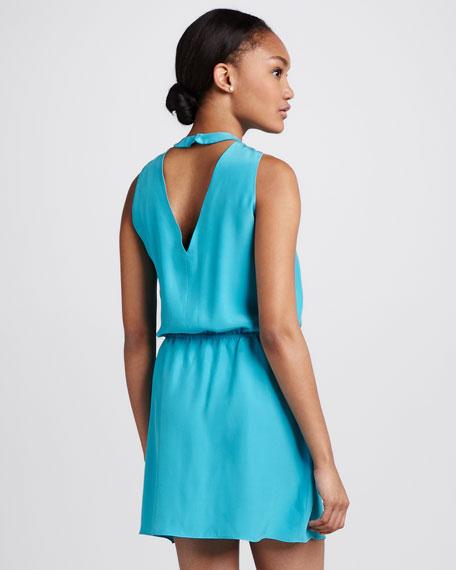 Aubrey Silk Drawstring Dress