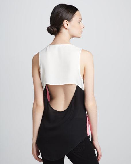 Drape-Back Top