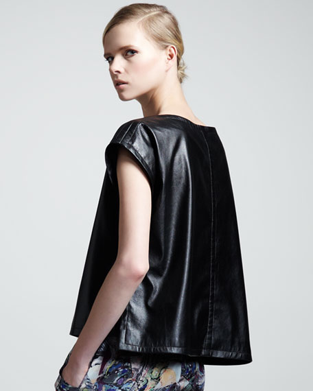 Turn-Key Faux-Leather Top