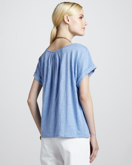 Boxy Linen Jersey Top