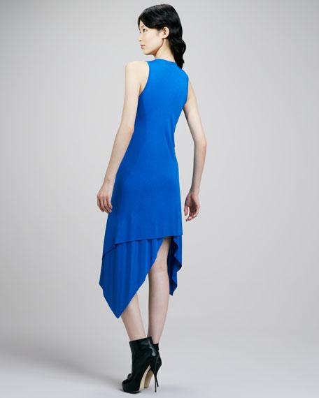 Handkerchief-Hem Jersey Dress