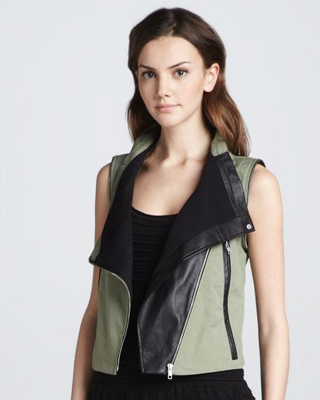 Detachable-Sleeve Jacket, Green