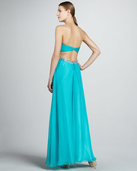 Strapless Gown with Open Back