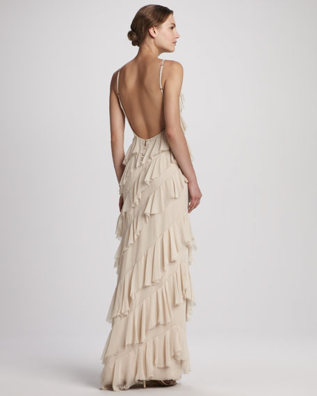 Aria Ruffled Tiered Gown