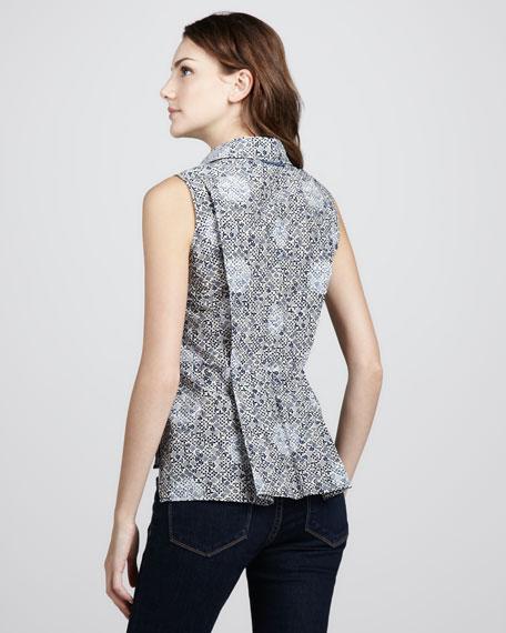 Jamie Dot Printed Sleeveless Blouse