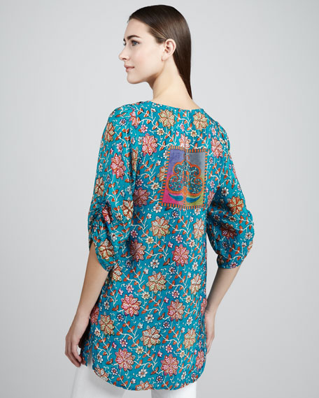 Sasha Floral-Print Tunic, Women's