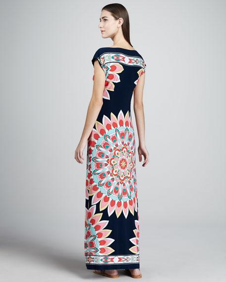 Kaleidoscope-Print Jersey Dress