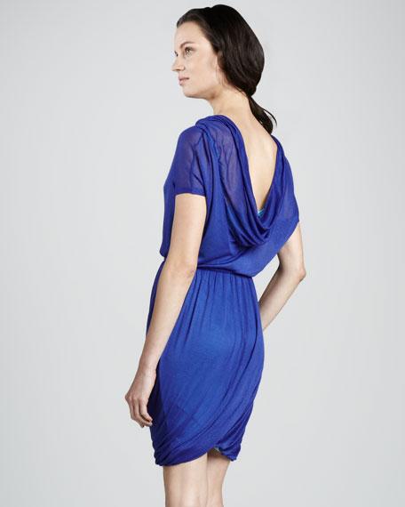Cowl-Neck Jersey Dress
