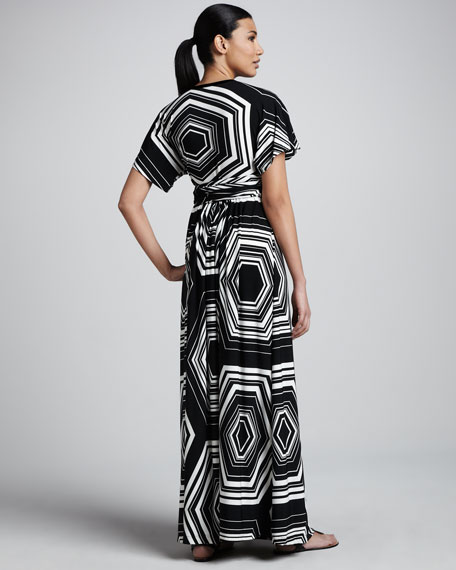 Geometric-Print Jersey Maxi Dress, Women's