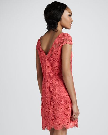 Crochet Cap-Sleeve Dress