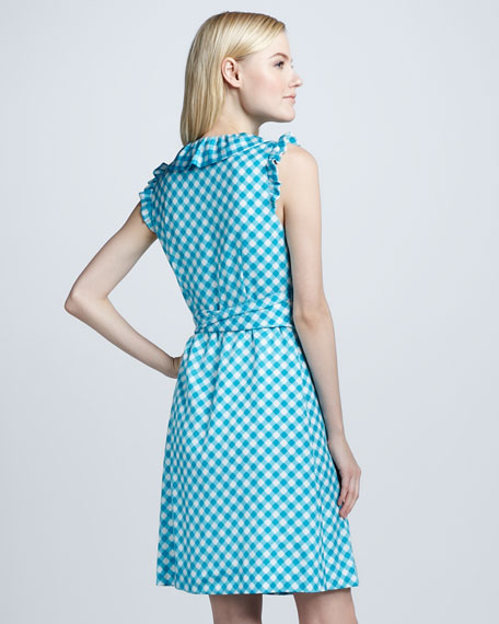 aubrey gingham wrap dress