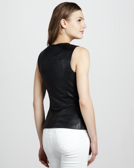 Ford Leather Peplum Top