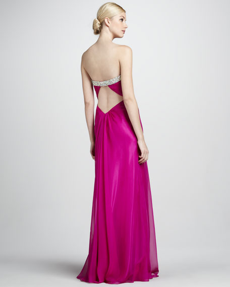 Strapless Beaded Sweetheart Gown