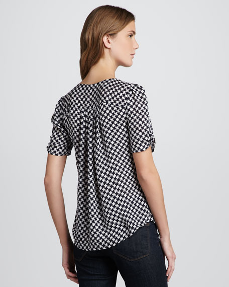 Amone Houndstooth-Print Top
