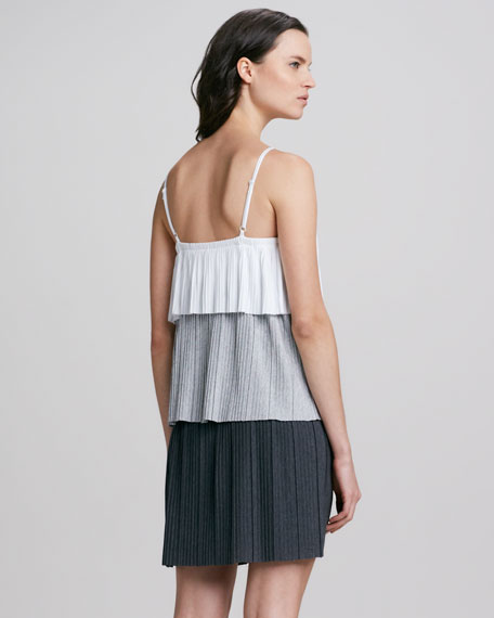Spaghetti Strap Colorblock Tiered Dress