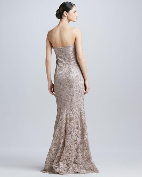 Strapless Soutache Gown