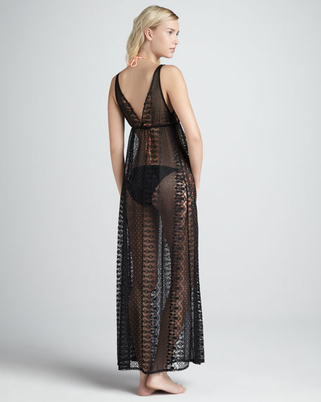 Ellis Garden-Lace Maxi Coverup