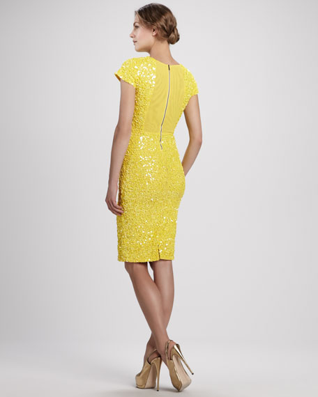 Taryn Beaded Fitted Dress