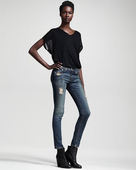 Ripped Skinny Warren Jeans
