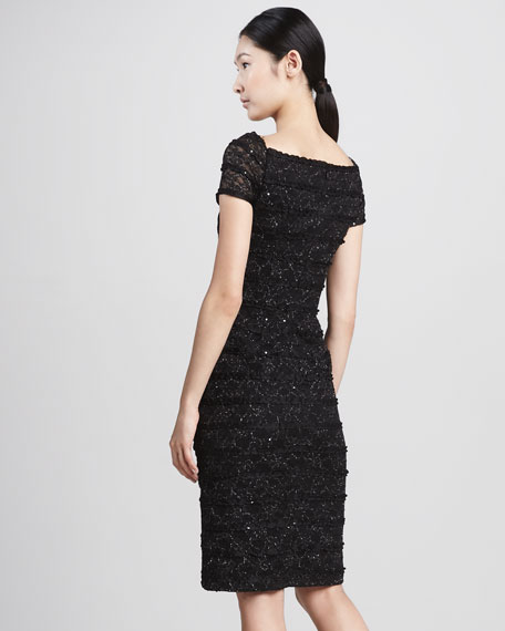 Sequined Sweetheart Cocktail Dress