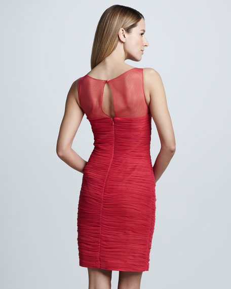 Shirred Cocktail Dress