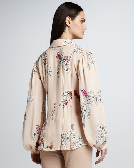 Painted Birds Blouse