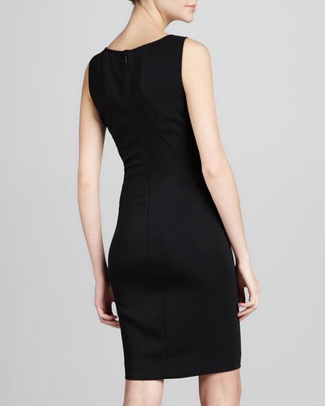 Buckle-Strap Sleeveless Dress