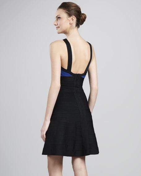 Crisscross Cutout A-Line Bandage Dress