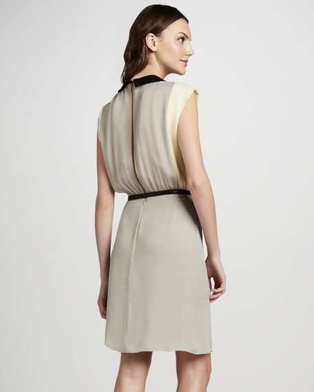 Colorblock Pleated Dress
