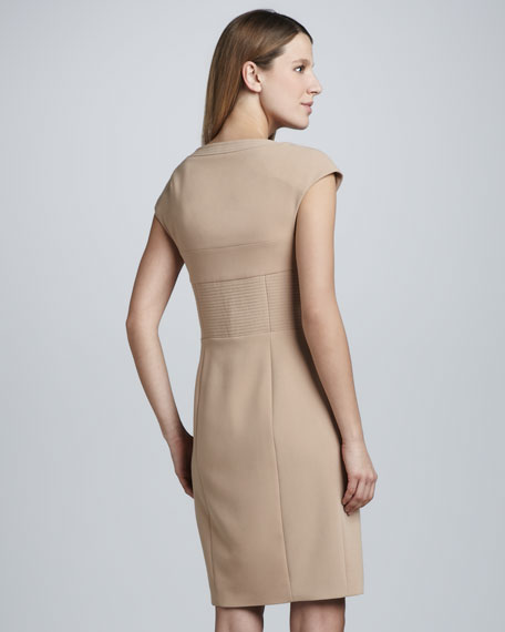 Scoop-Neck Sheath Dress