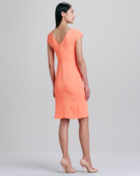 Cap-Sleeve Dress, Nectar