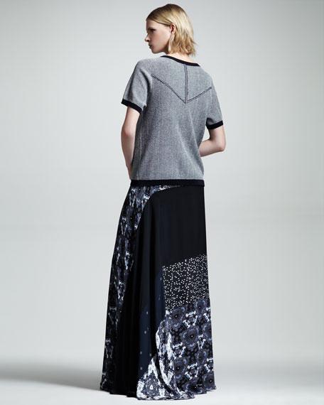 Brixton Printed Silk Maxi Skirt