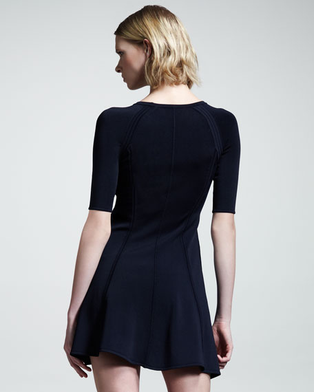 Shelby Seamed Raglan Dress